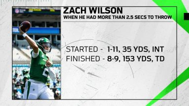 Inside the Numbers During Zach Wilson's NFL Debut   Next Gen Stats   The New York Jets   NFL