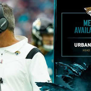 HC Urban Meyer meets with the media on Wednesday of Week 2 | Jaguars Media Availability