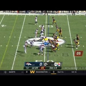 Big Ben Throws Bomb to Diontae Johnson for the TD