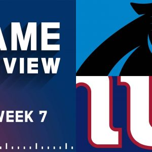 Carolina Panthers vs. New York Giants | Week 7 NFL Game Preview