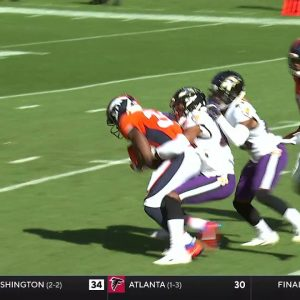 Javonte Williams with 99 Break Tackle