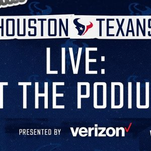 Players Meet with the Media | Texans At the Podium