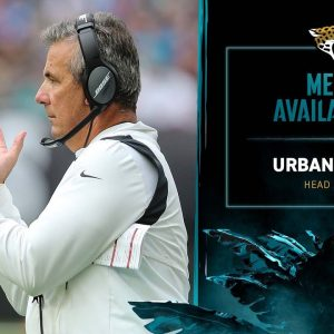 HC Urban Meyer meets with media after a Week 6 win against Miami | Jaguars Media Availability